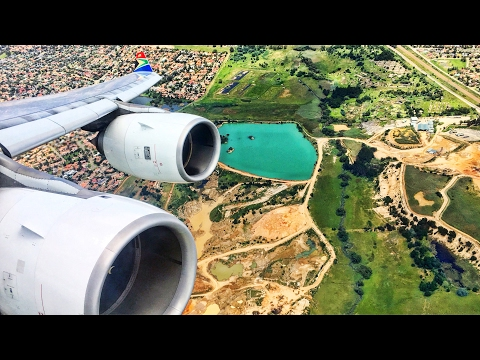 INSANE VIEWS | South African Airways Airbus A340-600 Takeoff from Johannesburg!