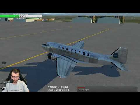 More VSKYLABS DC-3 for X-Plane 11 Fully loaded flight using XCheckList