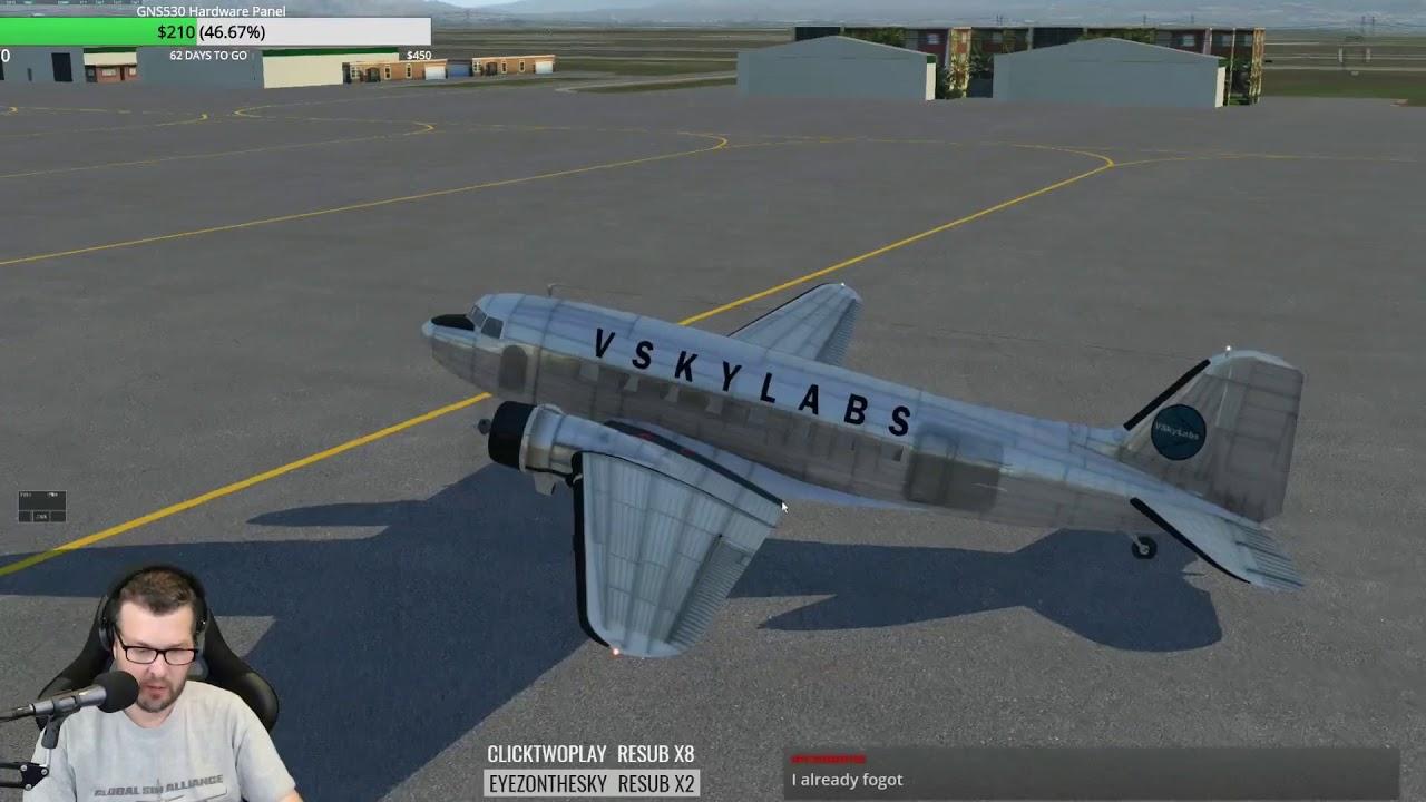 More VSKYLABS DC-3 for X-Plane 11 Fully loaded flight using XCheckList