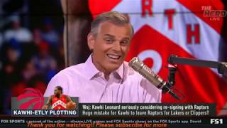 [Breaking News] The Herd | Woj: Kawhi Leonard seriously considering re-signing with Raptors