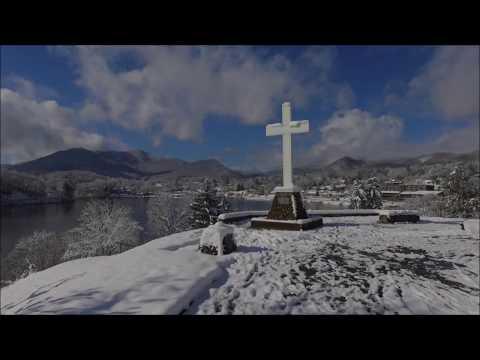 First snow of the season at Lake Junaluska!