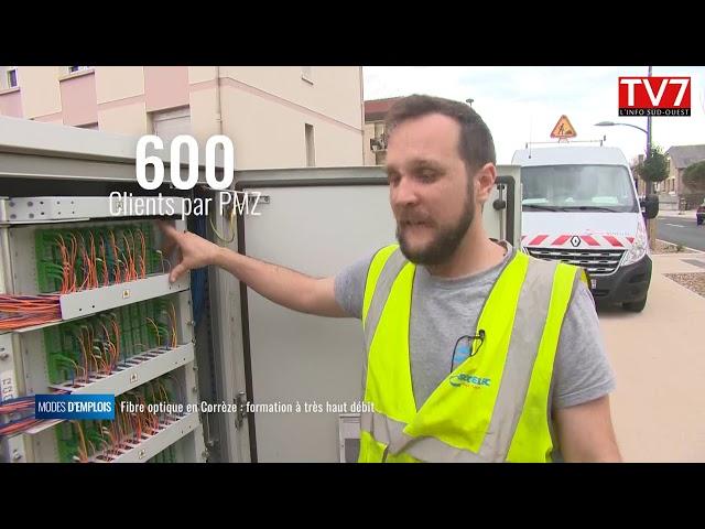 La fibre en Corrèze : formation à très haut débit