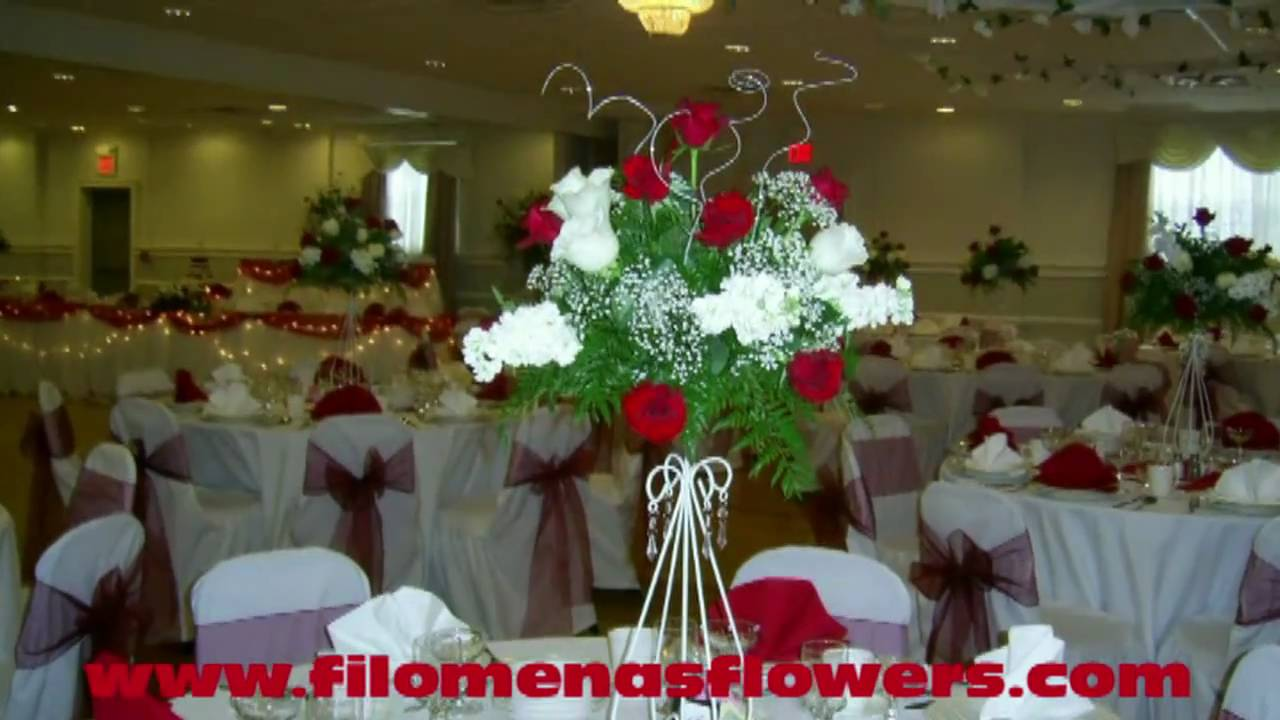 Red And White Wedding Flowers And Inspiration By Filomena Youtube