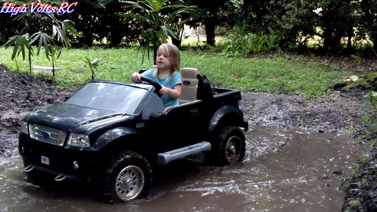 high volts rc power wheels ford f 150 mudding youtube. Cars Review. Best American Auto & Cars Review