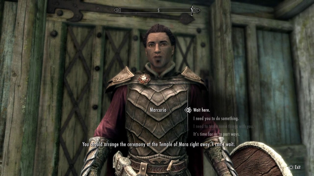 【SKYRIM】 Marcurio Marriage Proposal Dialogue YouTube