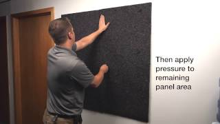 Echo Eliminator Install - The Most Cost Effective Acoustical Absorbing Material