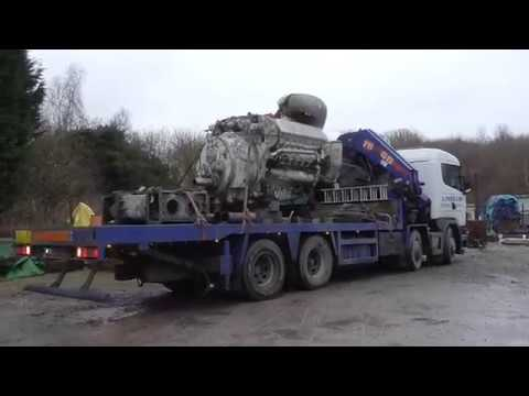 Napier Deltic engines arrive at the Anson Engine Museum