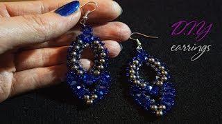 DIY Украшения СВОИМИ РУКАМИ / Beaded earrings / Мастер класс