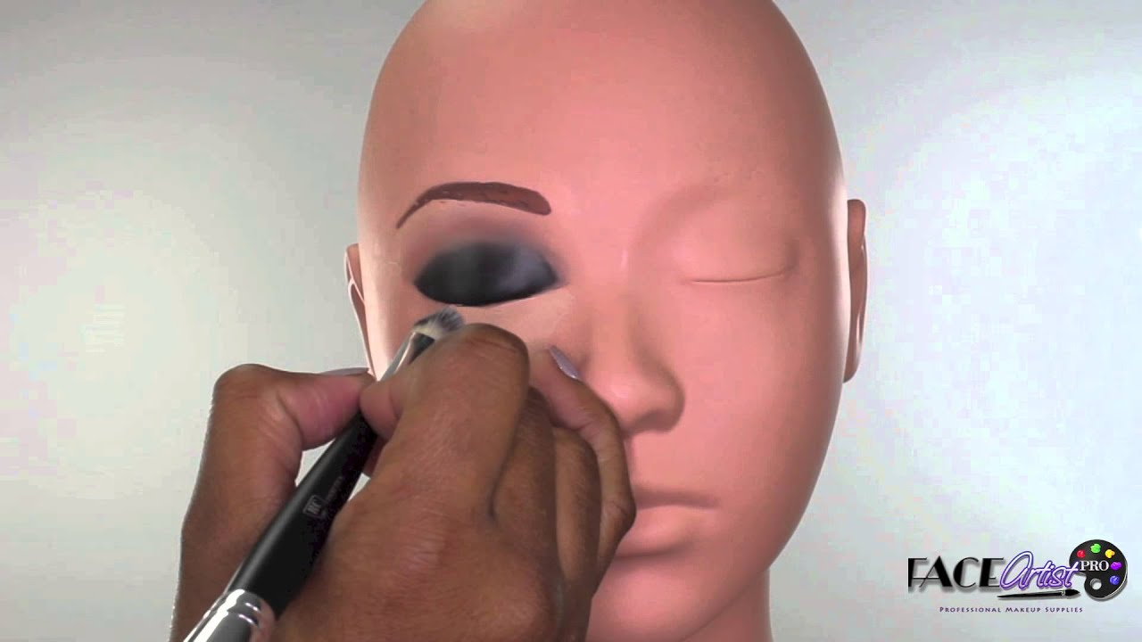 practicing smokey eye on makeup mannequin youtube