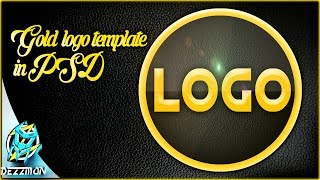 Classic Gold Logo Template download - Photoshop