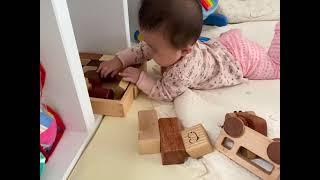 7개월아기 | 숲소리원목장난감 | 이제서야 관심을 보여…