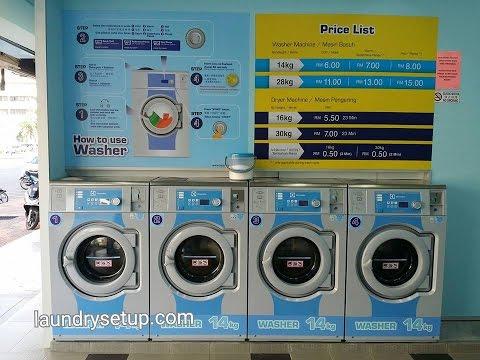 Self Service Laundry Franchise Malaysia Pembekal Mesin