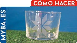 Cómo grabar vidrio con ácido, tutorial en español. Muy f�...