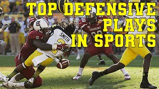 Top 50 Defensive Plays | Miraculous Saves, Greatest Catches \u0026 Biggest Blocks of all Time