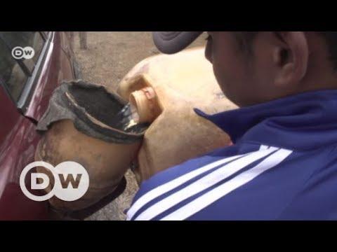 El mercado negro de la gasolina en la Guajira