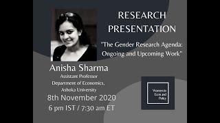 Research Presentation with Dr Anisha Sharma