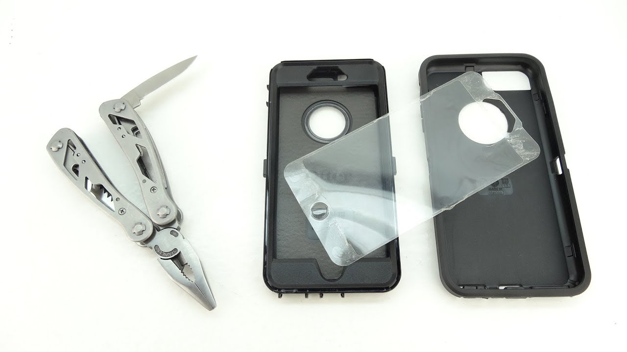 free shipping 748b4 ab17e How To Remove The Built In Screen Protector From The Otterbox Defender Case!