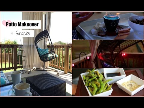 Fall Patio Makeover & Easy Unique Snacks - DIY Patio Curtains -  MissLizHeart