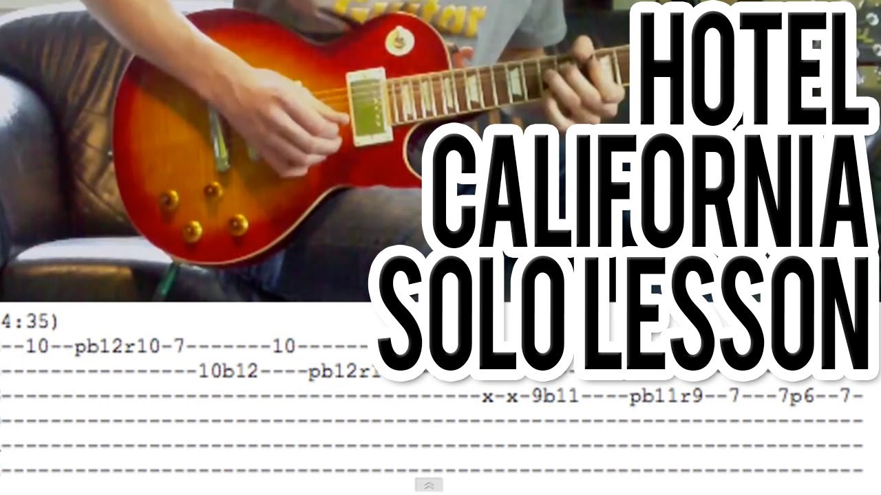 hotel california solo guitar lesson with tabs youtube. Black Bedroom Furniture Sets. Home Design Ideas