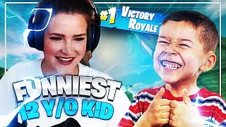 PLAYING WITH THE FUNNIEST 12 YEAR OLD KID! (Fortnite: Battle Royale) | KittyPlays