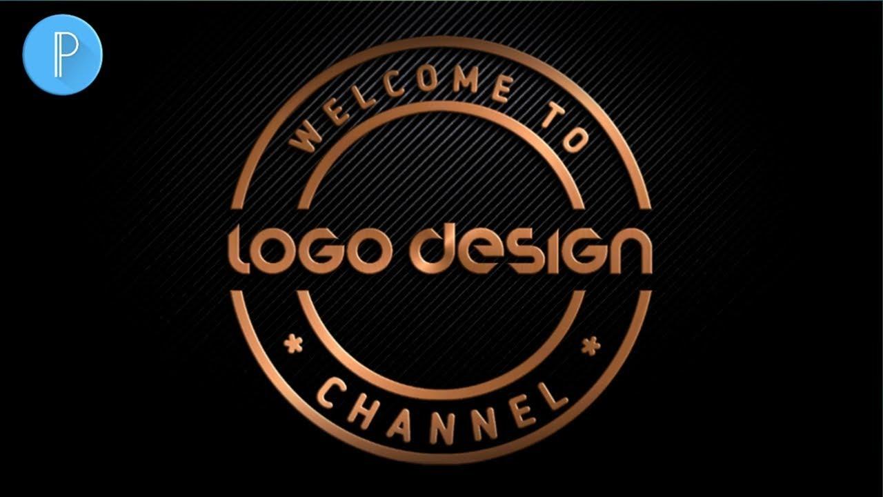 Custom Logo Design | Cara Membuat Logo Di Android | Cara buat logo di Picsart