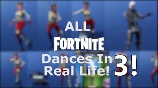 all fortnite dance in real life