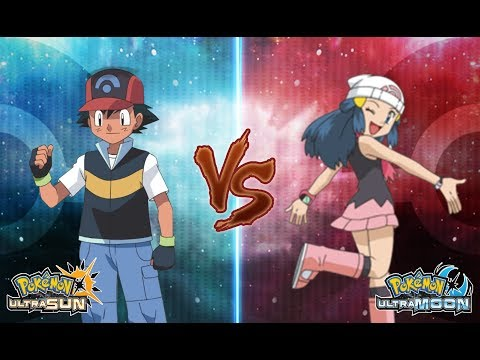 Pokemon Ultra Sun and Ultra Moon: Ash Vs Dawn (Sinnoh Battle)