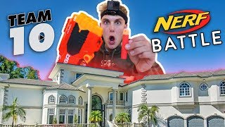 EPIC $5,000 NERF WAR @ TEAM 10 MANSION!