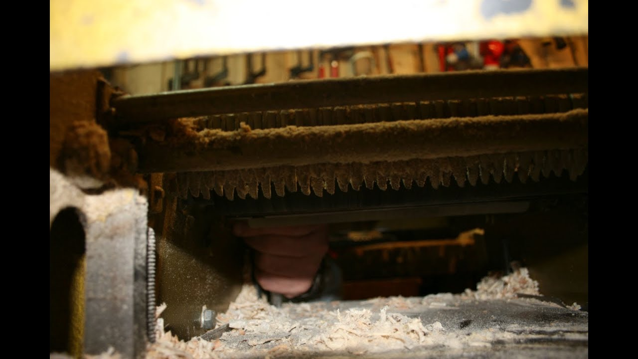 hobelmaschine reparieren antriebsriemen wechseln lager erneuern youtube. Black Bedroom Furniture Sets. Home Design Ideas