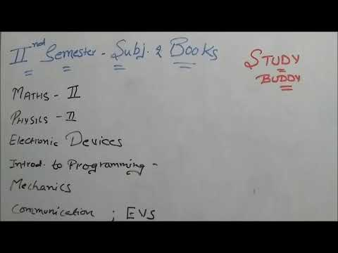 2nd Semester - Subjects and Books