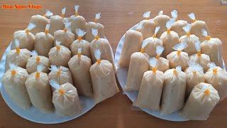 Cách làm Kem Chuối Bọc mềm mịn béo ngon Món ăn vặt đường phố / banana cream - Món Ngon Vlogs