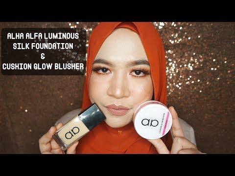 REVIEW | Alha Alfa Luminous Silk Foundation & Cushion Glow Blusher