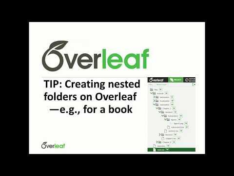 TIP: Creating nested folders on Overleaf - YouTube