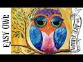 Colorful Owl | Acrylic Painting Lesson for Beginners
