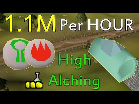 How to Make 1M+ GP Per Hour Using HIGH ALCH SPELL!! [Old Sch