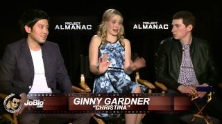 Allen Evangelista, Virginia Gardner, Sam Lerner Interview - Project Almanac (HD) 2015
