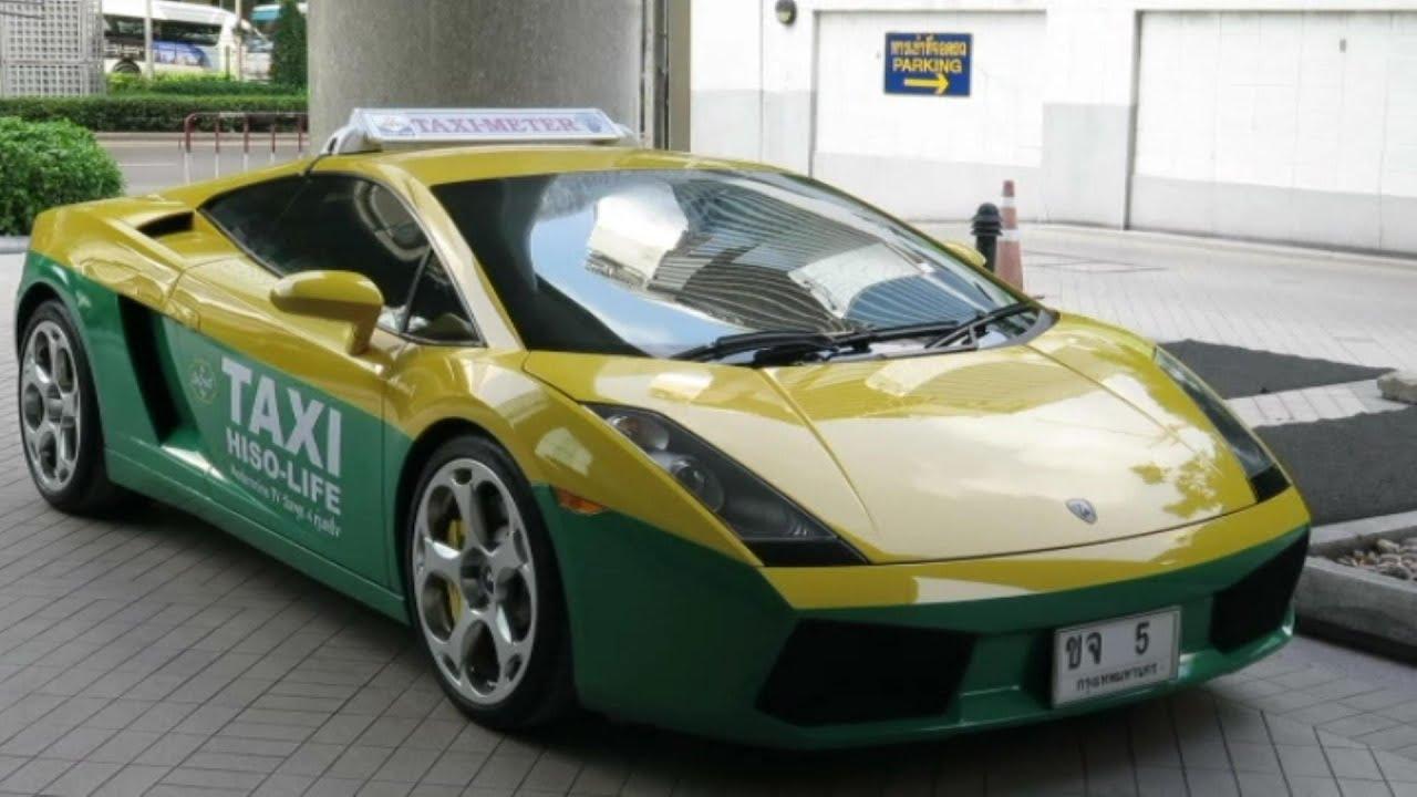 Lamborghini Gallardo As A Taxi Car Seen In Bangkok Thailand