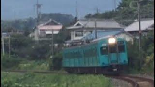 西笠田⇒笠田の大カーブを行く105系(地下鉄顔)