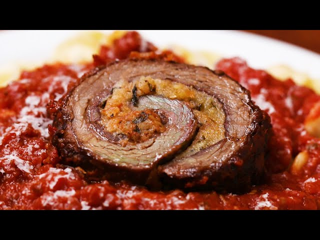 Beef Braciole (Stuffed Italian Beef Roll)