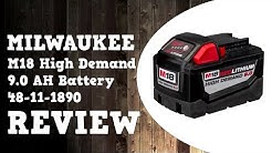 Milwaukee M18 High Demand 9.0 AH Battery Performance Testing & Review in 4K