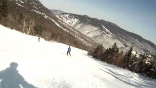 Skiing the Nosedive trail at Stowe - top to bottom - my first ever black diamond trail