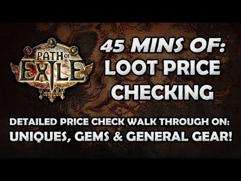 Path of Exile: Price Checking Your Gear, Uniques & Gems