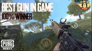 BEST GUN IN PUBG MOBILE 100% WINNER