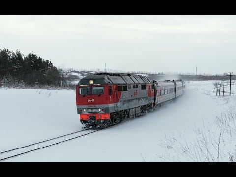 Тепловоз ТЭП70БС-285 с поездом № 112/111 Круглое Поле - Москва