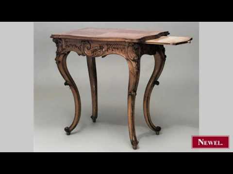 Antique French Victorian rectangular shaped maple 4 legged