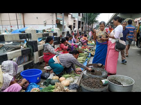 street-market-🍇🍎🍒🌽🌶️🥒🍍🍓🐟🐔🛍️|-imphal-market-|-morning-view-imphal-city-market