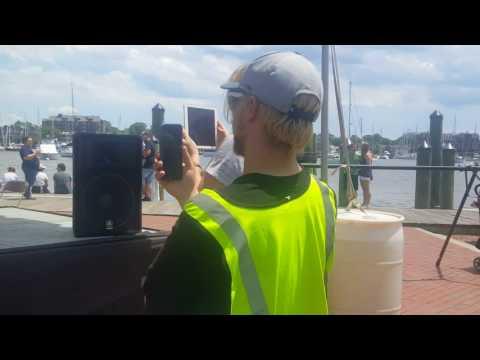 Annapolis Dock ~ Team Joe Frank RAAM Finish