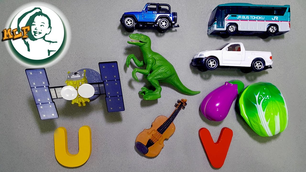 Toys That Start With A : Words that start with u or v learn alphabet
