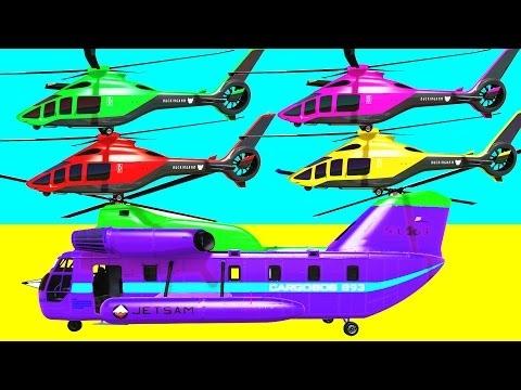 Learn colores helicóptero w Spiderman dibujos animados para niños y colores para niños canciones in