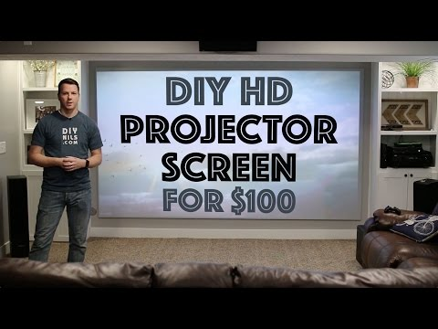 DIY HD Projector Screen for $100